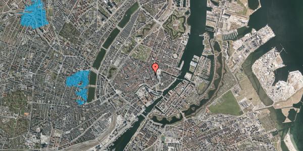 Oversvømmelsesrisiko fra vandløb på Østergade 21, 3. , 1100 København K