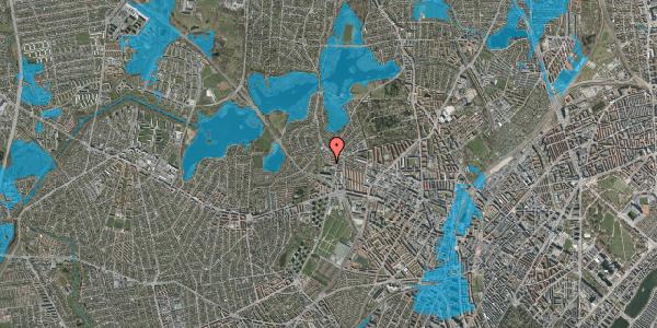 Oversvømmelsesrisiko fra vandløb på Efterslægtsvej 34, 2400 København NV