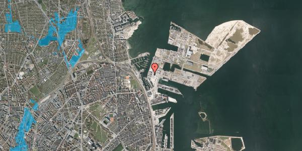 Oversvømmelsesrisiko fra vandløb på Sundkrogsgade 19, 1. , 2100 København Ø