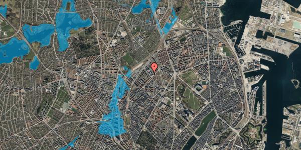 Oversvømmelsesrisiko fra vandløb på Vermundsgade 38F, 1. th, 2100 København Ø