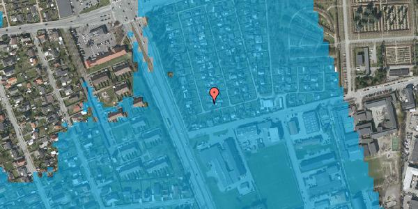Oversvømmelsesrisiko fra vandløb på Hf. Svarø 16, 2650 Hvidovre