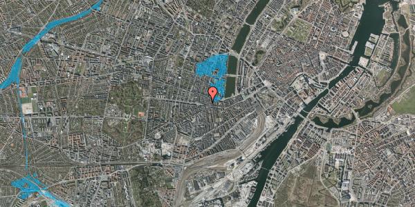Oversvømmelsesrisiko fra vandløb på Værnedamsvej 6, 1619 København V