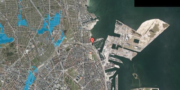 Oversvømmelsesrisiko fra vandløb på Strandvænget 28, 2100 København Ø