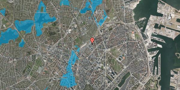 Oversvømmelsesrisiko fra vandløb på Emblasgade 11, 1. th, 2100 København Ø