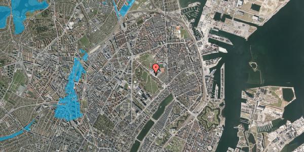 Oversvømmelsesrisiko fra vandløb på Øster Allé 33, st. , 2100 København Ø