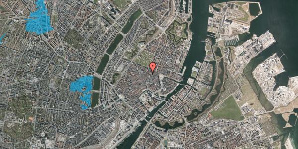 Oversvømmelsesrisiko fra vandløb på Gammel Mønt 19A, 4. tv, 1117 København K