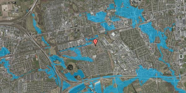 Oversvømmelsesrisiko fra vandløb på Gymnasievej 10, 2625 Vallensbæk