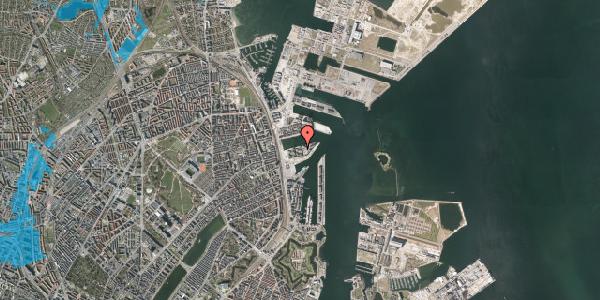 Oversvømmelsesrisiko fra vandløb på Marmorvej 39, 1. th, 2100 København Ø