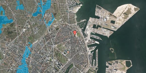 Oversvømmelsesrisiko fra vandløb på Sionsgade 5, 2100 København Ø