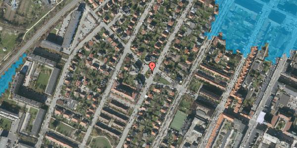 Oversvømmelsesrisiko fra vandløb på Kristian Zahrtmanns Plads 85, 2000 Frederiksberg