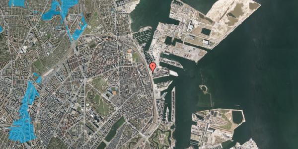 Oversvømmelsesrisiko fra vandløb på Århusgade 116, 2100 København Ø