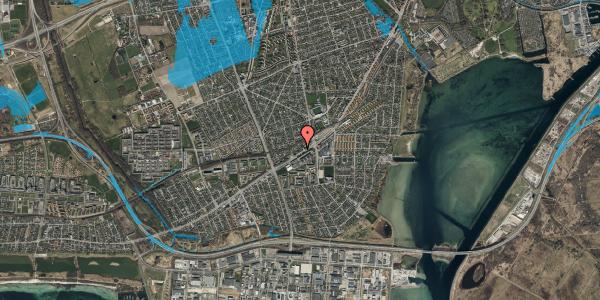 Oversvømmelsesrisiko fra vandløb på Gammel Køge Landevej 376D, st. , 2650 Hvidovre