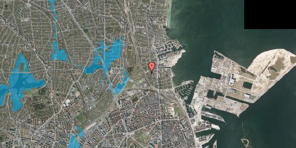 Oversvømmelsesrisiko fra vandløb på Vestagervej 3, 2100 København Ø