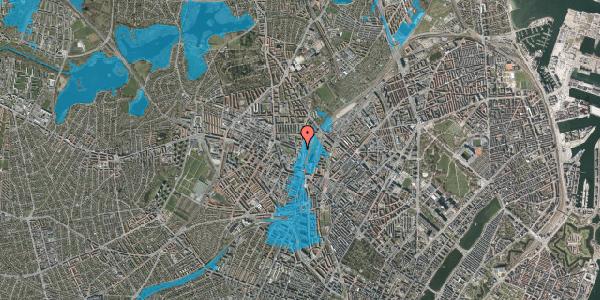 Oversvømmelsesrisiko fra vandløb på Rentemestervej 2A, 1. , 2400 København NV