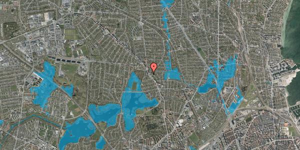 Oversvømmelsesrisiko fra vandløb på Rødkløvervej 1, 2400 København NV