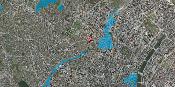 Oversvømmelsesrisiko fra vandløb på Jordbærvej 127, 2400 København NV