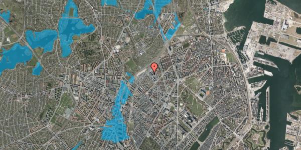 Oversvømmelsesrisiko fra vandløb på Vermundsgade 40, kl. , 2100 København Ø