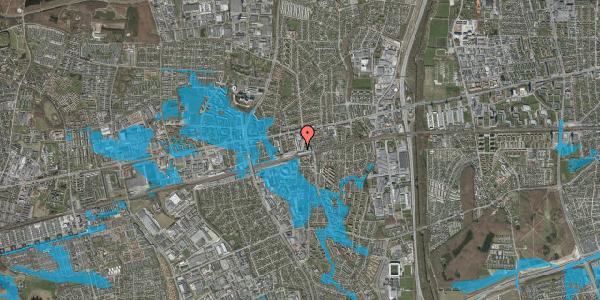 Oversvømmelsesrisiko fra vandløb på Glostrup Shoppingcenter 1, st. , 2600 Glostrup