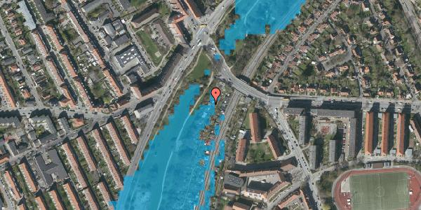 Oversvømmelsesrisiko fra vandløb på Hf. Grænsen 2A, 2000 Frederiksberg
