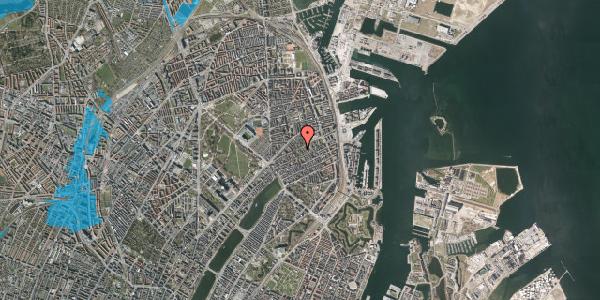 Oversvømmelsesrisiko fra vandløb på Rosenvængets Hovedvej 6B, 2100 København Ø