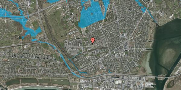Oversvømmelsesrisiko fra vandløb på Mellemvangsvej 24, 2650 Hvidovre