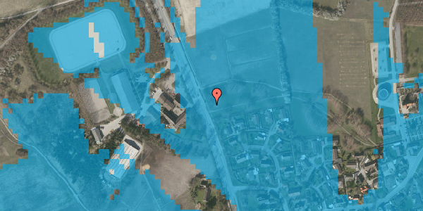 Oversvømmelsesrisiko fra vandløb på Vejlegårdsvej 120, 2625 Vallensbæk