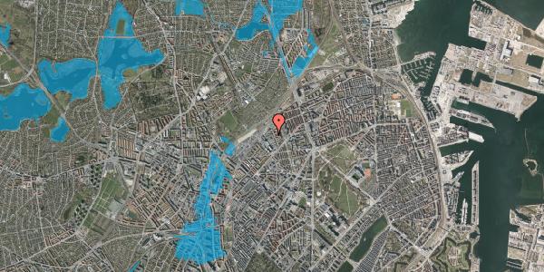 Oversvømmelsesrisiko fra vandløb på Emblasgade 133, 2100 København Ø