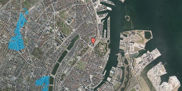 Oversvømmelsesrisiko fra vandløb på Østbanegade 2, 2100 København Ø