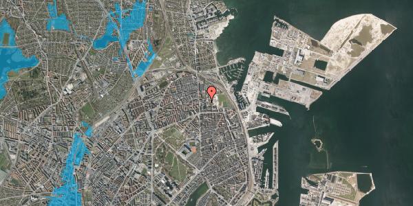 Oversvømmelsesrisiko fra vandløb på Sionsgade 5A, 2100 København Ø