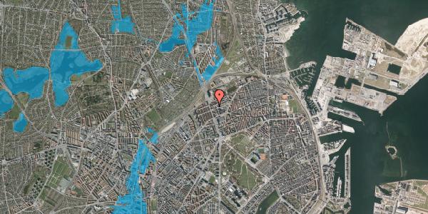 Oversvømmelsesrisiko fra vandløb på Æbeløgade 17, kl. , 2100 København Ø