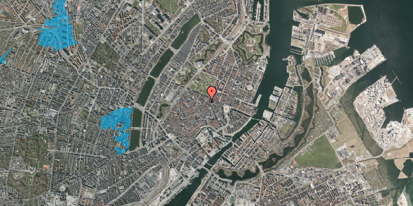 Oversvømmelsesrisiko fra vandløb på Gammel Mønt 39, 1. tv, 1117 København K