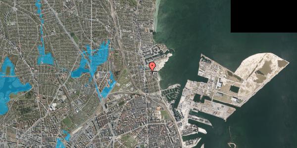 Oversvømmelsesrisiko fra vandløb på Scherfigsvej 4, 2100 København Ø