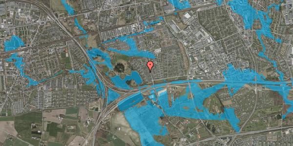 Oversvømmelsesrisiko fra vandløb på Rendsagervej 66C, 2625 Vallensbæk