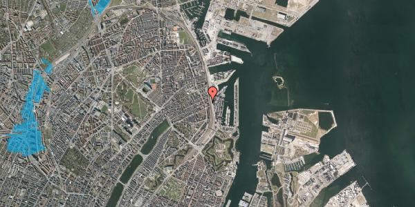 Oversvømmelsesrisiko fra vandløb på Willemoesgade 80, 3. , 2100 København Ø