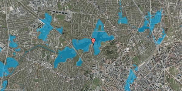 Oversvømmelsesrisiko fra vandløb på Horsebakken 61B, 2400 København NV