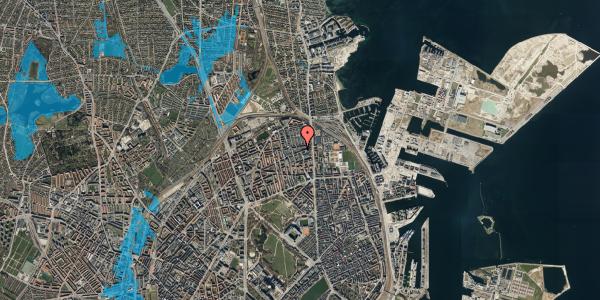 Oversvømmelsesrisiko fra vandløb på Nygårdsvej 16B, 4. , 2100 København Ø