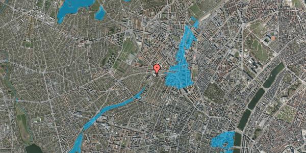 Oversvømmelsesrisiko fra vandløb på Rabarbervej 6, st. 4, 2400 København NV