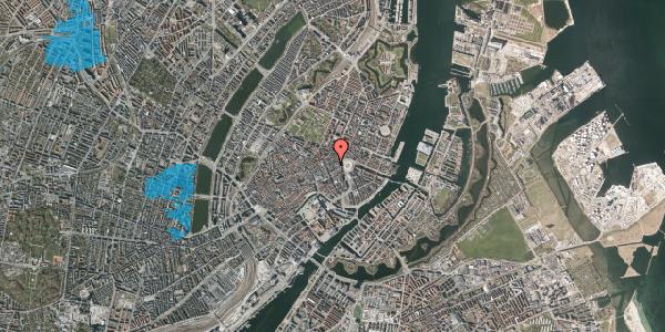 Oversvømmelsesrisiko fra vandløb på Ny Østergade 7, 3. th, 1101 København K