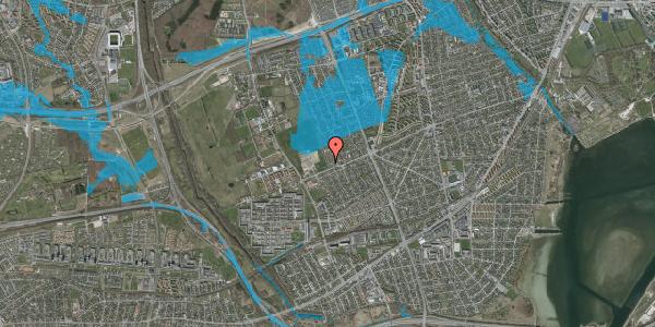 Oversvømmelsesrisiko fra vandløb på Hf. Dahlia 102, 2650 Hvidovre