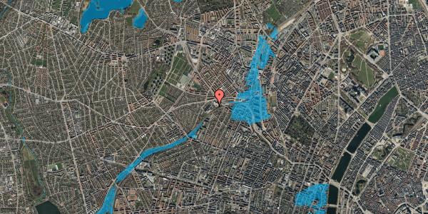 Oversvømmelsesrisiko fra vandløb på Rabarbervej 6, st. 10, 2400 København NV