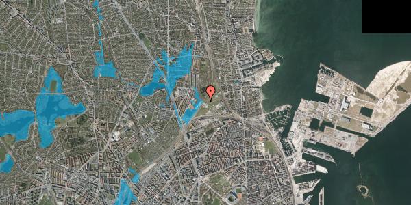 Oversvømmelsesrisiko fra vandløb på Svanemøllens Kaserne 58, 2100 København Ø