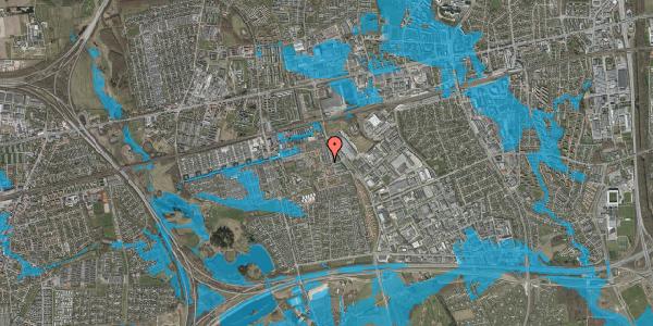 Oversvømmelsesrisiko fra vandløb på Gulkløvervænget 38, 2625 Vallensbæk