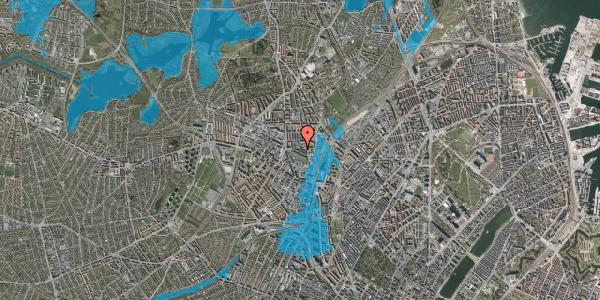 Oversvømmelsesrisiko fra vandløb på Bygmestervej 8, 2400 København NV