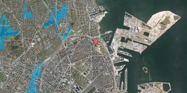 Oversvømmelsesrisiko fra vandløb på Carl Nielsens Allé 10, 2100 København Ø