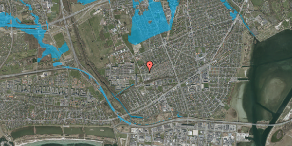 Oversvømmelsesrisiko fra vandløb på Mellemvangsvej 4, 1. th, 2650 Hvidovre