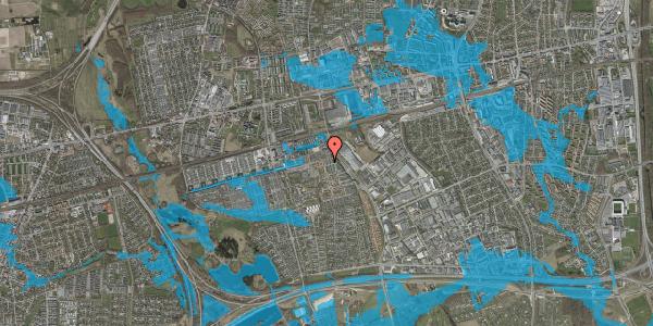 Oversvømmelsesrisiko fra vandløb på Bjergkløvervænget 13, 2625 Vallensbæk