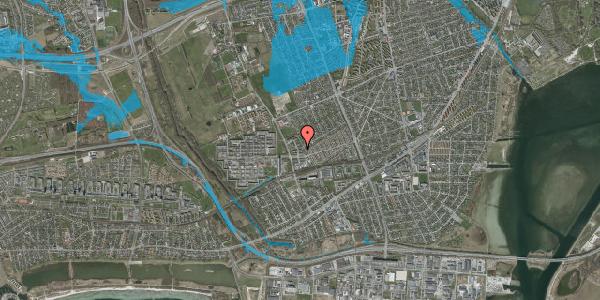 Oversvømmelsesrisiko fra vandløb på Mellemvangsvej 48, 2650 Hvidovre