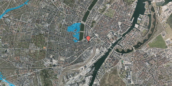 Oversvømmelsesrisiko fra vandløb på Vesterbrogade 13, 2. th, 1620 København V