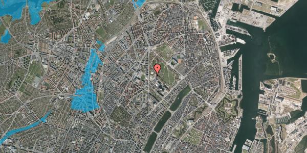 Oversvømmelsesrisiko fra vandløb på Edel Sauntes Allé 7, 2100 København Ø