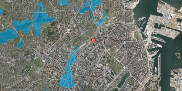 Oversvømmelsesrisiko fra vandløb på Emblasgade 139, 2100 København Ø